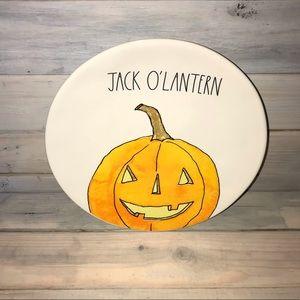 "Rae Dunn Halloween Jack O'Lantern Dinner Plate 11"""